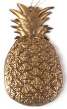 Pineapple 4.75 in Metal Gold Painted Heavy Christmas Tree Holiday Ornament - $12.73