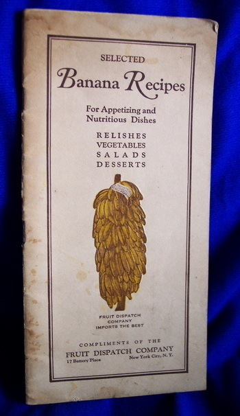 "1923 Booklet ""BANANA RECIPES"""