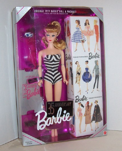 Primary image for  Barbie 35th Anniversary Special Edt Reproduction Doll MIB