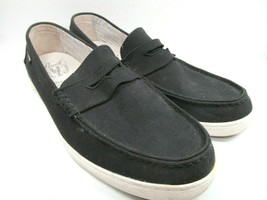 982ed8e1896 Cole Haan Grand o`s Pinch Maine Classic Mens Black Canvas Loafers Size US 14