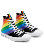Converse Mens CTAS Hi Pride Canvas 167759C Black/University Red/Multi NWB - £37.42 GBP