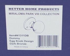 Better Home Products 41311DB Dummy Egg Knob Design Dark Bronze image 7