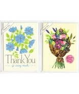Lot of 2 Trader Joe's Thank You Greeting Cards Flowers Spring Time New - $8.75