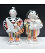 Villeroy Boch salt pepper shakers 1748 native porcelain figurals tribal ... - $123.75