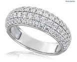 Round brilliant pave wedding engagement 925 sterling silver ring p150 496 image thumb155 crop