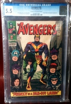 Avengers (1963) # 30 CGC Graded 5.5 FINE- - $56.95
