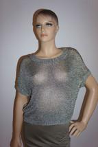 $320 NEW Vince Silver Metallic Knit Sweater Sz XS - $1.029,21 MXN