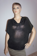 $320 New Vince Black Metallic Knit Sweater Sz S - $2.438,63 MXN