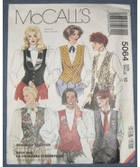 McCalls 5064 - Size 12 Misses Lined Vest - Sewi... - $3.25