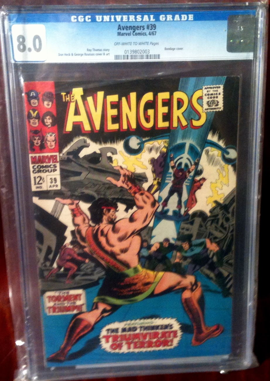 Avengers (1963) # 39 CGC Graded 8.0 VF Very Fine