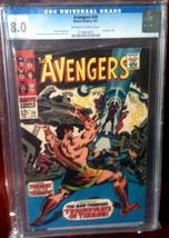 Avengers (1963) # 39 CGC Graded 8.0 VF Very Fine - $85.00
