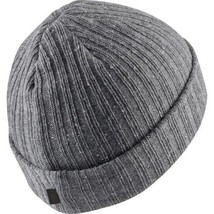 Jordan Beanie Watch Hat Grey Carbon Heather One Size Adults Jumpman Nike... - $35.65
