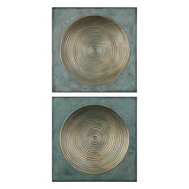 Uttermost Sybil Antique Gold Square 2-Piece Wall Art Set - €184,07 EUR