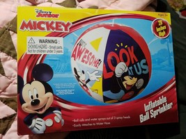 Disney Jr Mickey Mouse  Inflatable Ball Sprinkler - $14.95