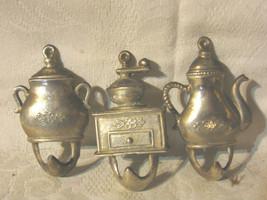 Vintage Small Solid Brass Victorian Teapot,Grinder,Pot,Towel/Hot Pad Han... - $9.99
