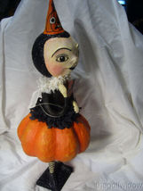 Bethany Lowe Halloween Party Pumpkin Girl  HH9215 image 4