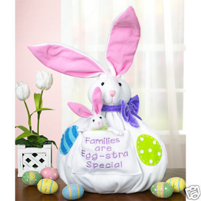 Primary image for 2-Pcs Egg-Stra Special Plush Figures Mama & Baby Bunny