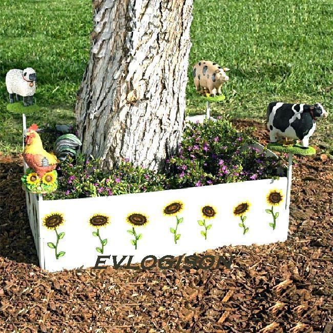 "Primary image for 72"" Versatile Garden Border With Farm Animals Figures"
