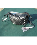 Zou Zou Black w/ White Dot Shoulderbag Purse NWT - $15.00