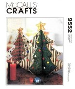 McCall's 9552 Christmas Tree Centerpiece Draft Stopper Ornaments Pattern - $8.95