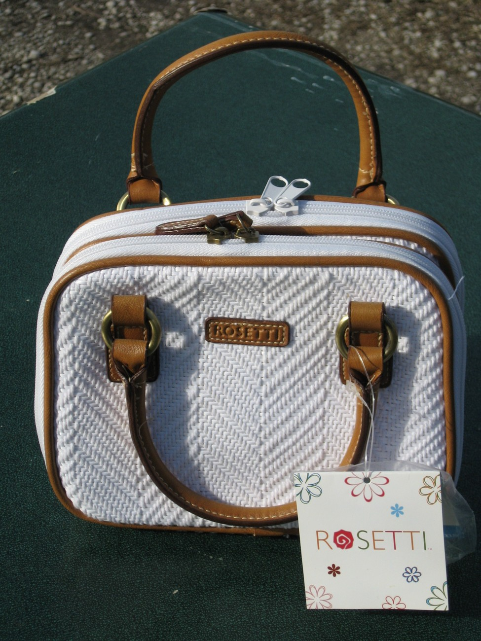 Rosetti White Weave Handbag Shoulderbag Purse NWT Bonus