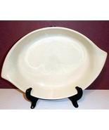 Royal Doulton Bay Leaves Oval Baker Leaf Shaped Cream Interior/DK Green ... - $29.90