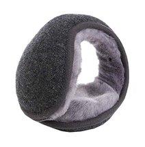 Keep Your Ear Warmer,Unisex Foldable Ear Warmers Fleece Winter EarMuffs,Gray - $13.26
