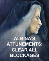 ALBINA'S CLEAR ALL BLOCKAGES ATTUNEMENT ENERGIES ALBINA 99 yr Witch REIK... - $39.89