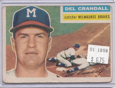 1956 Topps 175 Del Crandall Not Graded