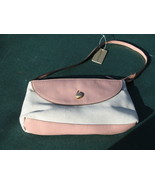 Massini Beige Weave w/ Pink Trim Clutch Handbag Purse NWT - $15.00
