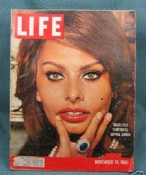 Life  November 14, 1960 Sophia Loren Cover