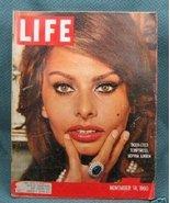 Life  November 14, 1960 Sophia Loren Cover - $4.99