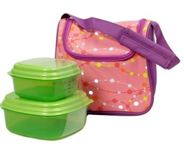 Fit n Fresh Lunch Box Bag Morgan Chiller Reusable Containers & Ice Pack ... - $20.09