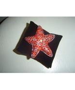 Red Crystal Starfish Brooch Pendant Star Fish Pin  - $12.00
