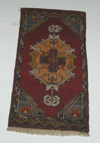 Unbranded DV127 Old Turkish Rug Multi Colored Hand Woven