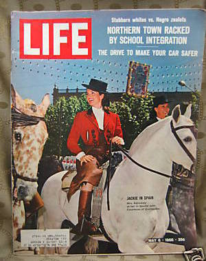 Life May 6, 1966 Jackie Kennedy in Spain Cover