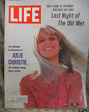 Life April 29, 1966 Julie Christie Cover