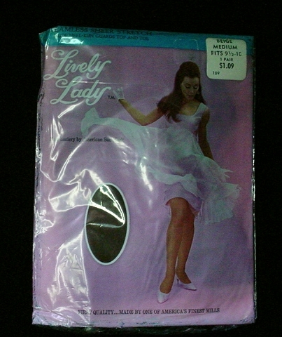 Vintage Lively Lady Sexy Nylon Stockings Seamless M 9.5-10