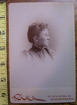 Cabinet Card Beauty Vignette Style Side View! c.1866-80 - $5.60