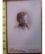 Cabinet Card Beauty Vignette Style Side View! c.1866-80 - $6.00