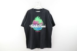 Vintage 90s Streetwear Mens XL Waikiki Beach Hawaii Spell Out Faded Shir... - $34.60