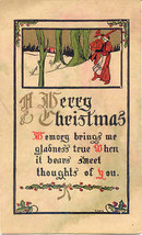 Merry Christmas Vintage 1913 Post Card - $5.00