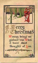 Merry Christmas Vintage 1913 Post Card - $5.00