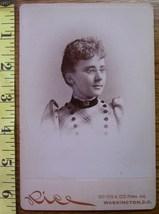 Cabinet Card Beauty w/Glasses Vignette Style! c.1866-80 - $6.00