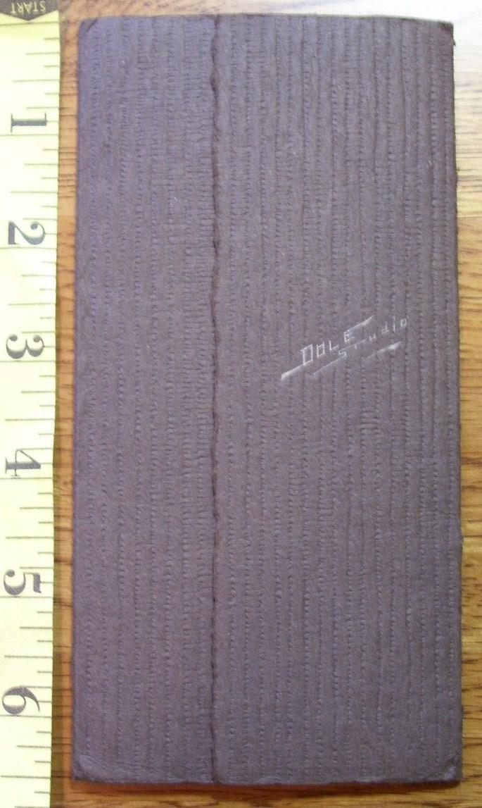 Cabinet Card  College Grad Folding Frame! c.1900-30