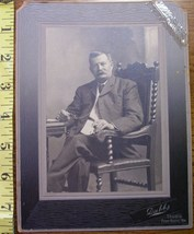 Cabinet Card Important Looking Man Dated 1918! - $3.60