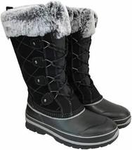 Khombu Women Knee High Insulated Winter Boots Ellie Black Suede - $9.99