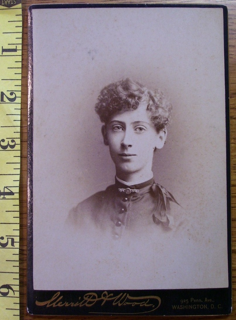 Primary image for Cabinet Card Homely Lady Looks Like Dude! c.1866-80