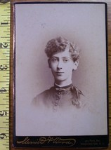Cabinet Card Homely Lady Looks Like Dude! c.1866-80 - $3.60