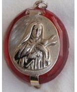 Mini red Rosary box Madona - $19.00